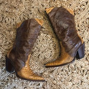 Amazing Rudel Leather and Reptile Cowboy Boots 6